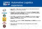 automotive logistics experience