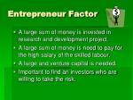 entrepreneur factor