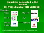 industries dominated in m4 corridor hi tech sunrise industries