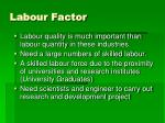 labour factor