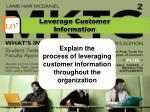 leverage customer information