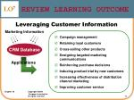review learning outcome43