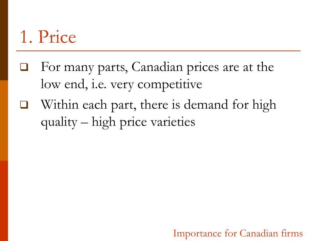 1. Price