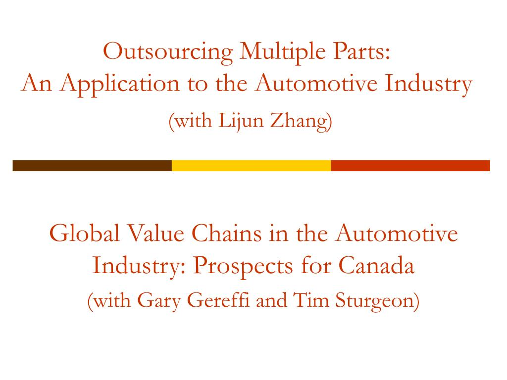 Outsourcing Multiple Parts: