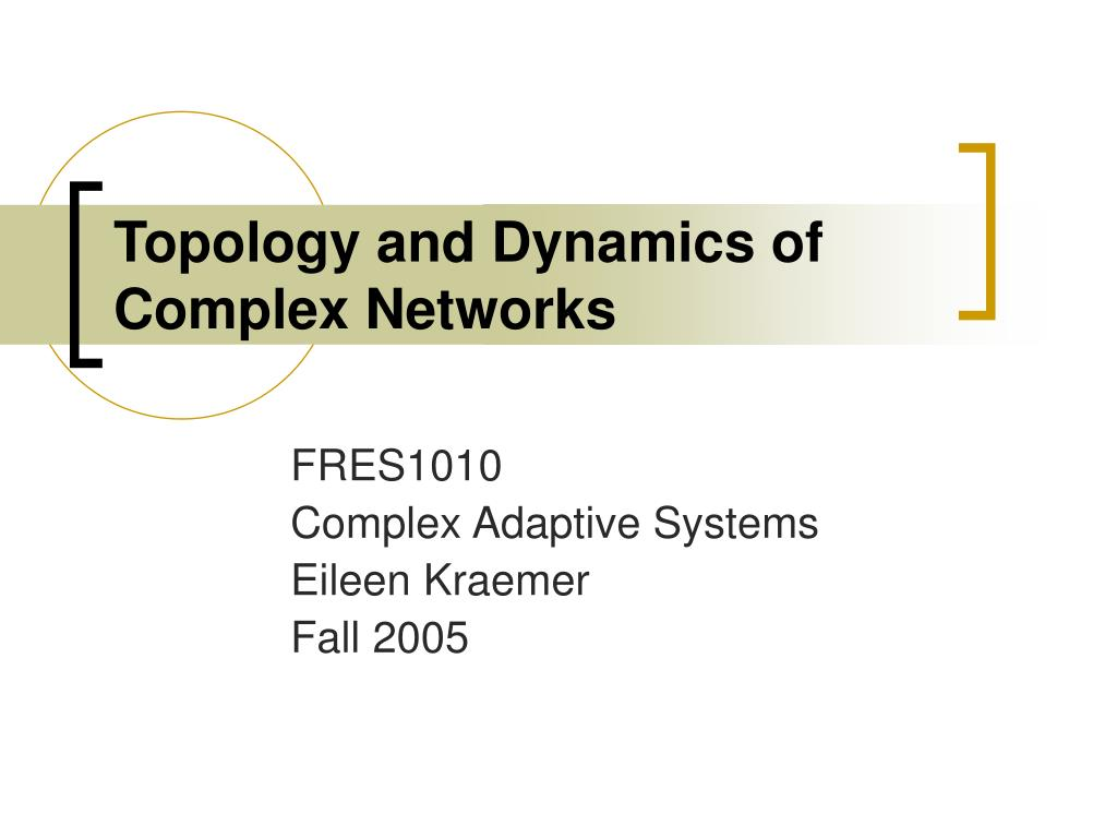 topology and dynamics of complex networks l.