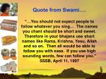 quote from swami