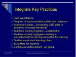 integrate key practices