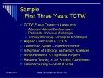 sample first three years tctw