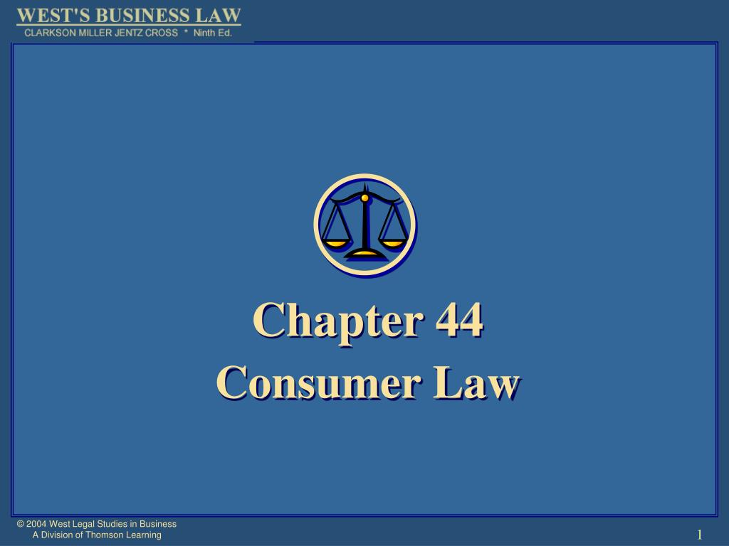chapter 44 consumer law l.