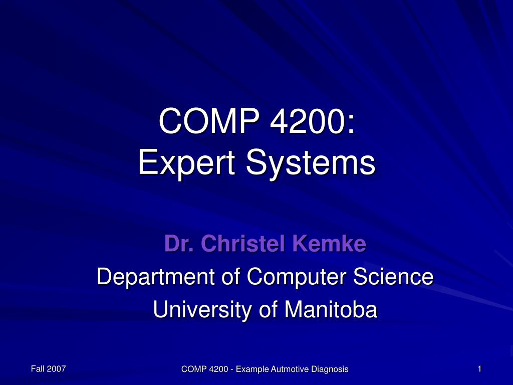 comp 4200 expert systems l.