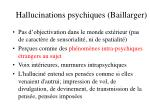 hallucinations psychiques baillarger