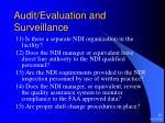 audit evaluation and surveillance22
