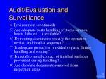 audit evaluation and surveillance24