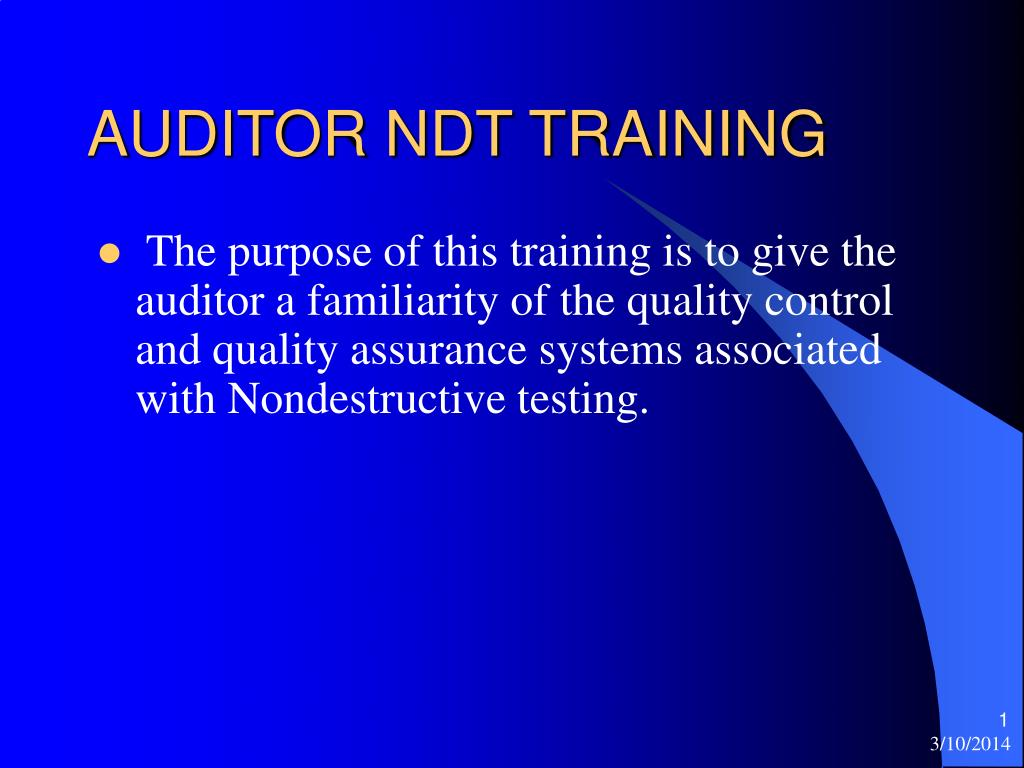 auditor ndt training l.