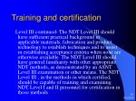 training and certification10