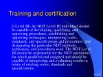 training and certification9