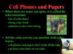 cell phones and pagers