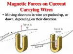 magnetic forces on current carrying wires