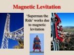 magnetic levitation22