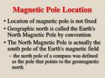 magnetic pole location