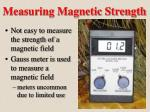 measuring magnetic strength