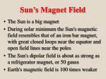 sun s magnet field