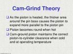 cam grind theory