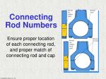 connecting rod numbers