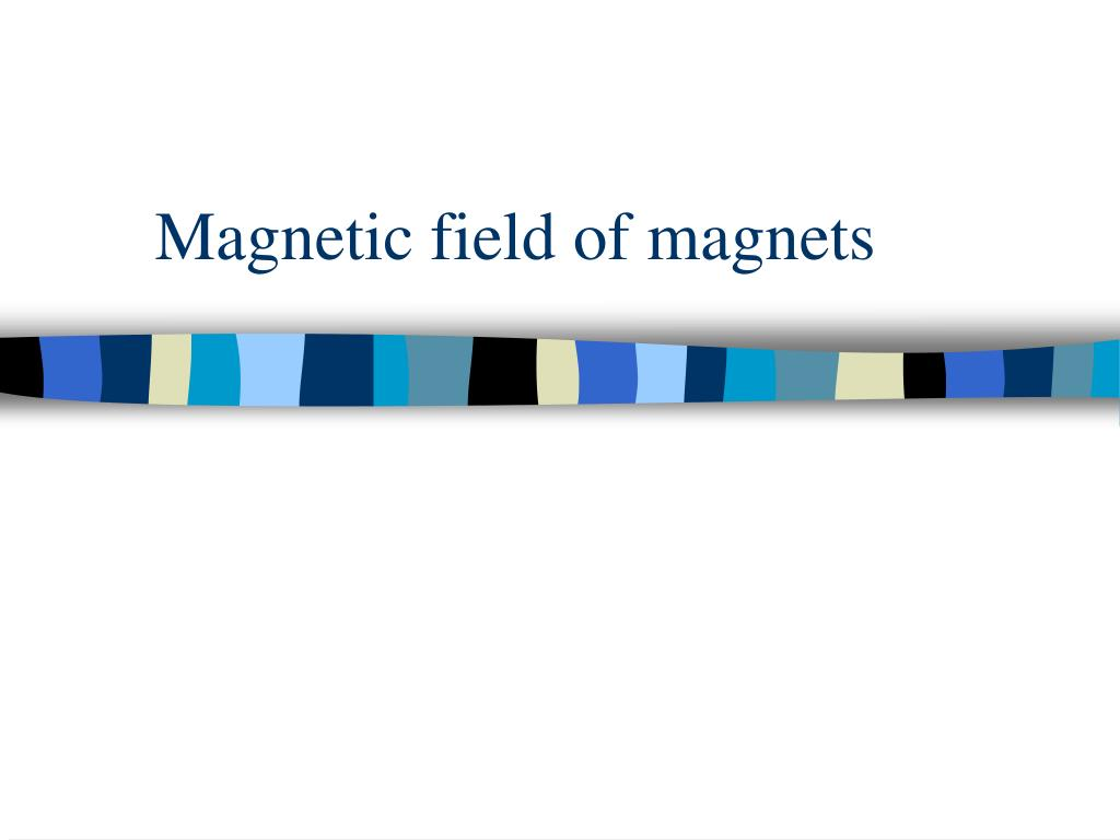 magnetic field of magnets l.