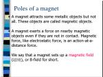 poles of a magnet8