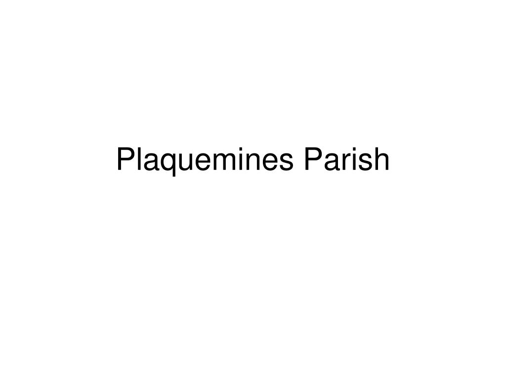 plaquemines parish l.