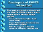 developers of iso ts 16949 20026