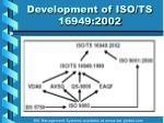 development of iso ts 16949 20029
