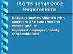 iso ts 16949 2002 requirements19