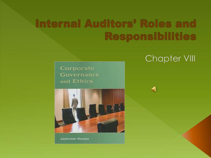 internal auditors roles and responsibilities n.