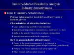 industry market feasibility analysis industry attractiveness