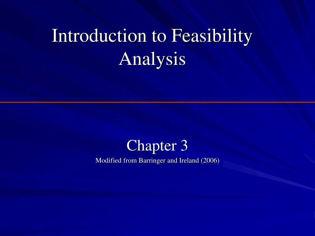 introduction to feasibility analysis l.
