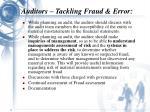 auditors tackling fraud error11
