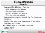 ford and mmog le benefits
