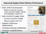 improving supply chain delivery performance