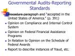 governmental audits reporting standards