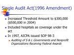 single audit act 1996 amendment