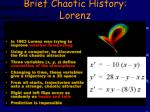 brief chaotic history lorenz