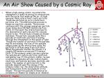 an air show caused by a cosmic ray