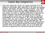 cosmic ray composition