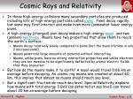 cosmic rays and relativity