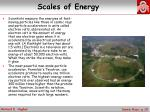 scales of energy