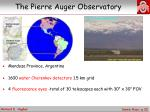the pierre auger observatory