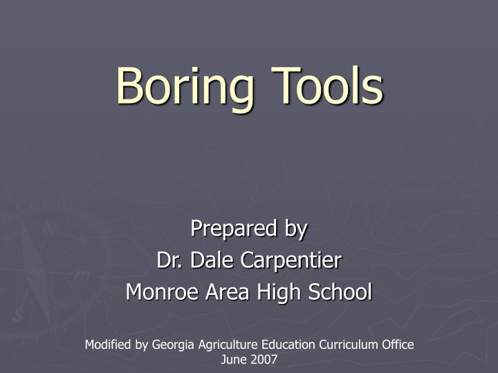boring tools n.