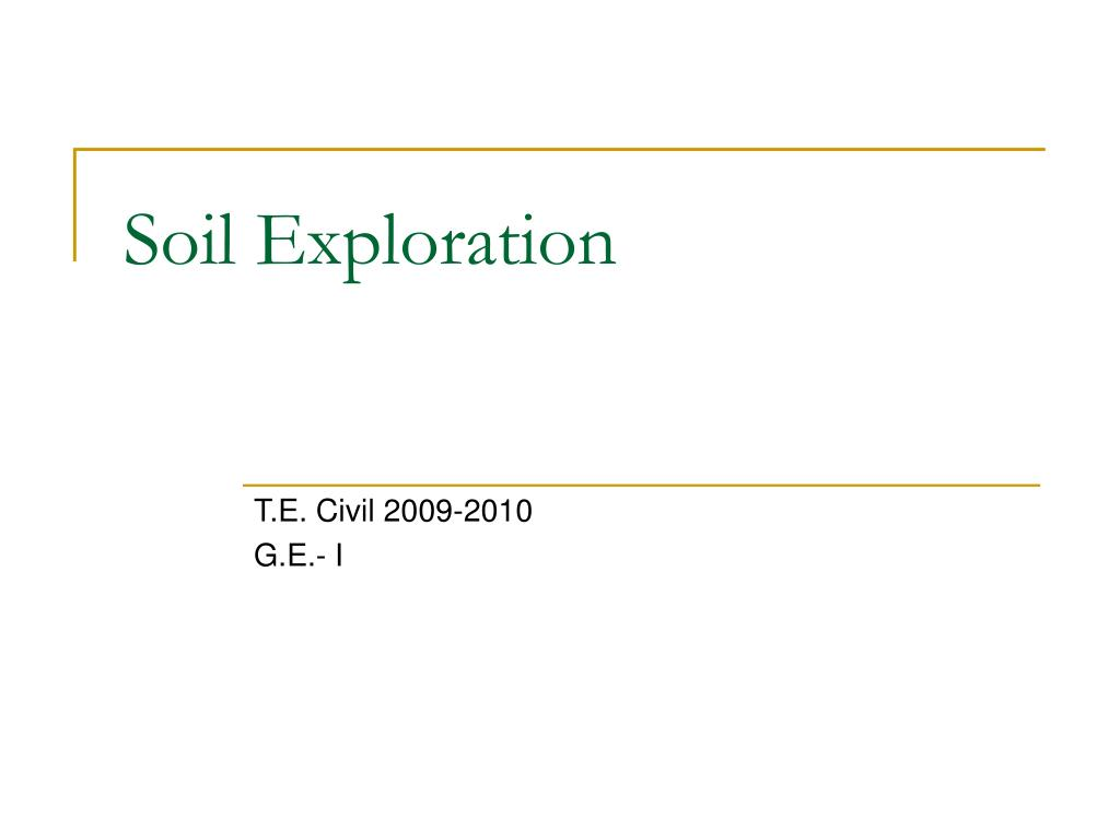 soil exploration l.